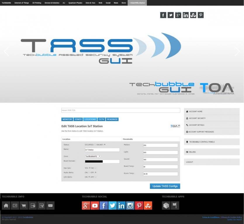 TASS, the TechBubble Assisted Security System now has voice recognition, voice synthesis and CCTV