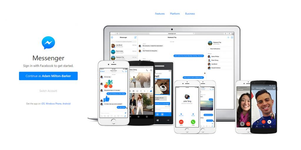 Facebook Messenger on the web and new Facebook video phone calls