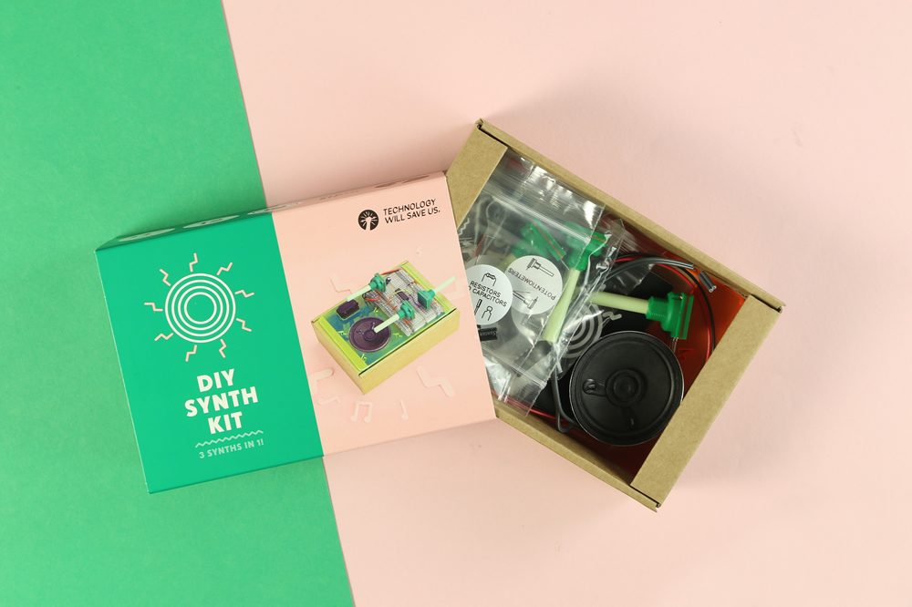 Children use Technology Will Save Us DIY Synth Kit to create electro music video inspired by German electro group, Kraftwerk