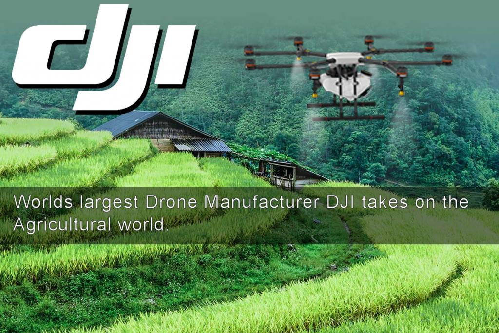Worlds largest Drone Manufacturer DJI takes on the agricultural world.