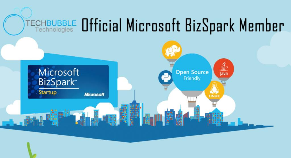 TechBubble Technologies now an official member of the Microsoft BizSpark Program