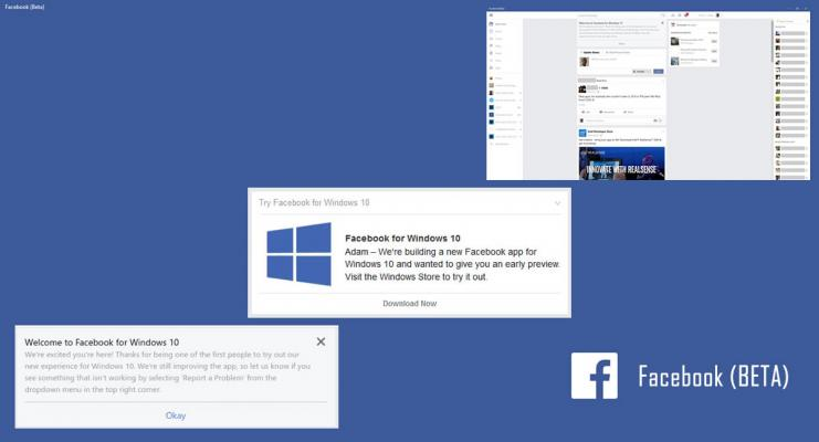 HANDS ON: Testing out the new Facebook Windows 10 Beta App.