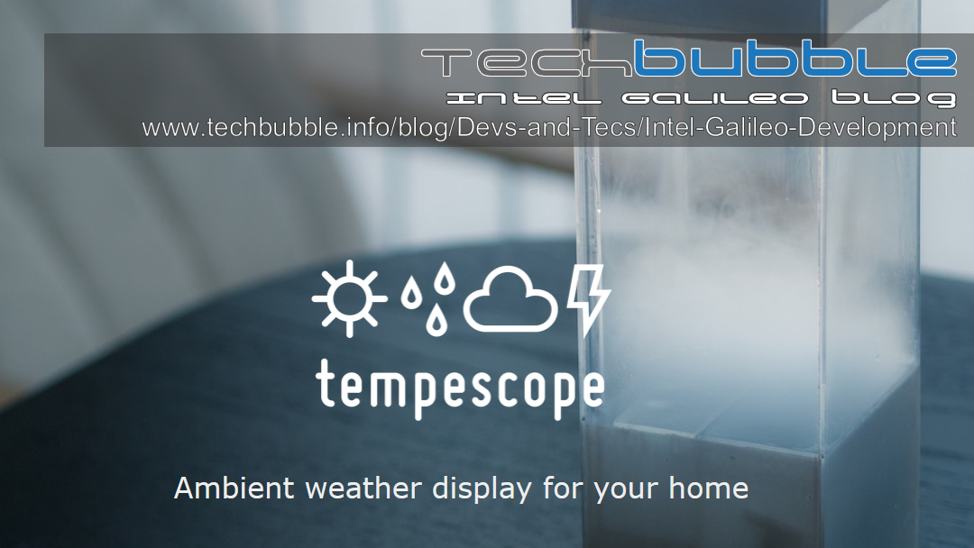 Tempescope the ambient physical display that visualizes the weather inside your living room