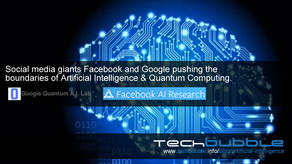 Social media giants Facebook and Google pushing the boundaries of Artificial Intelligence and Quantum Computing.