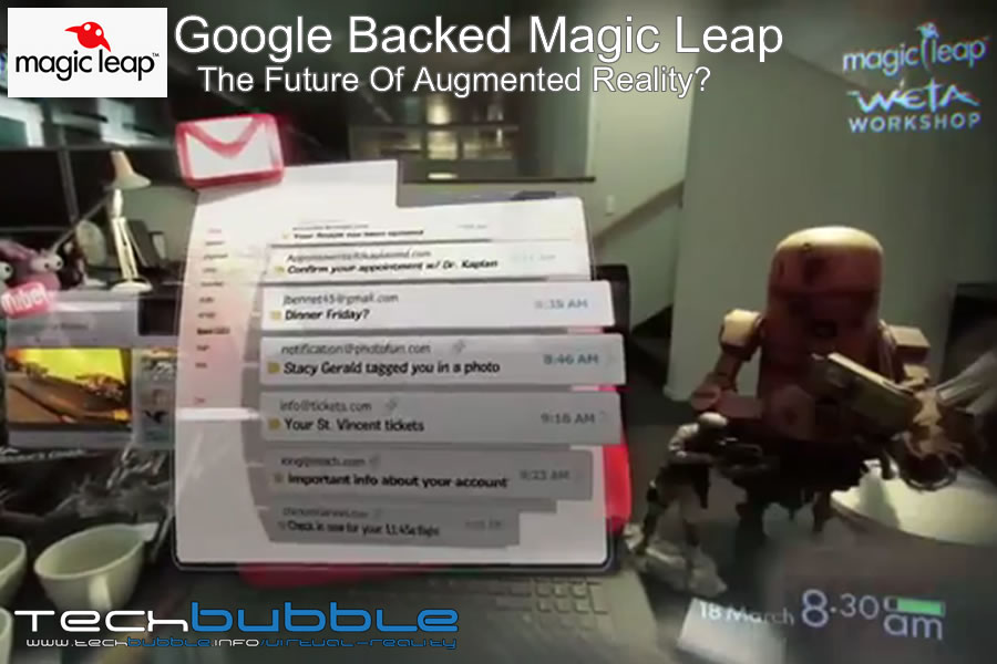 Google backed Magic Leap, the future of Augmented Reality ?