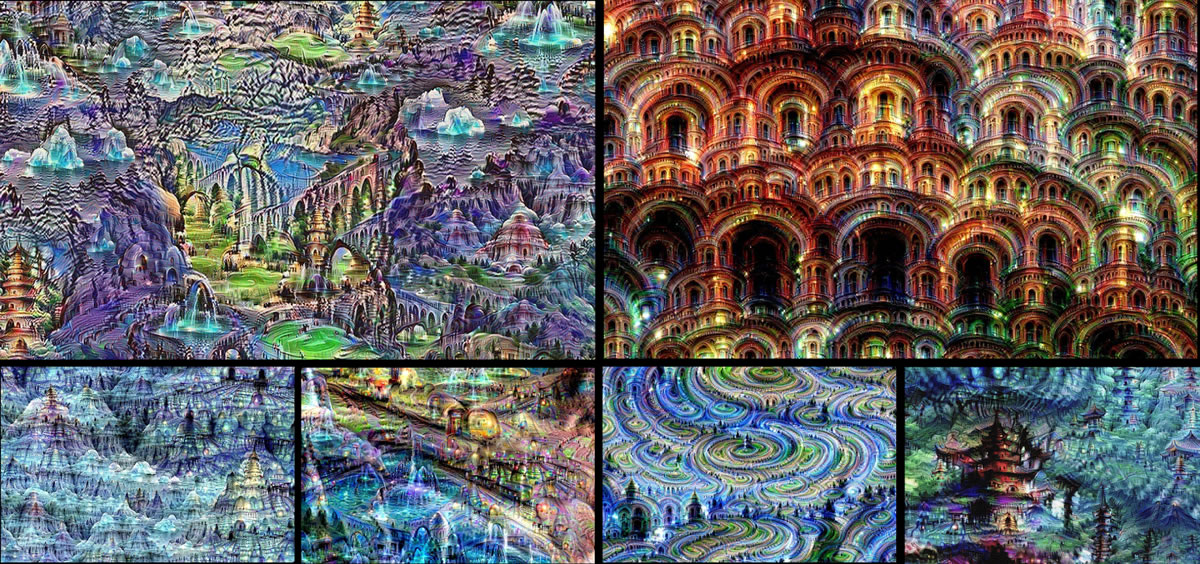 Google's Deep Dream Artificial Intelligence Neural Network creates some cool images while dreaming!
