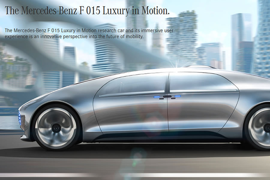 The Mercedes-Benz F 015 Luxury In Motion Autonomous Research Car