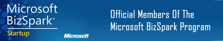 Official Members Of The Microsoft Bizspark Startup Program.