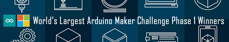 Finalists In The Hackster / Arduino / Micorosoft World Maker Challenge.